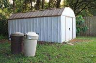 Riverside garden storage shed installation